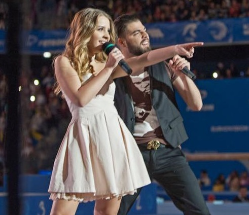 Ilinca and Alex performed Yodel it! at the closing ceremony for the European Gymnastics Championship ( VIDEO)