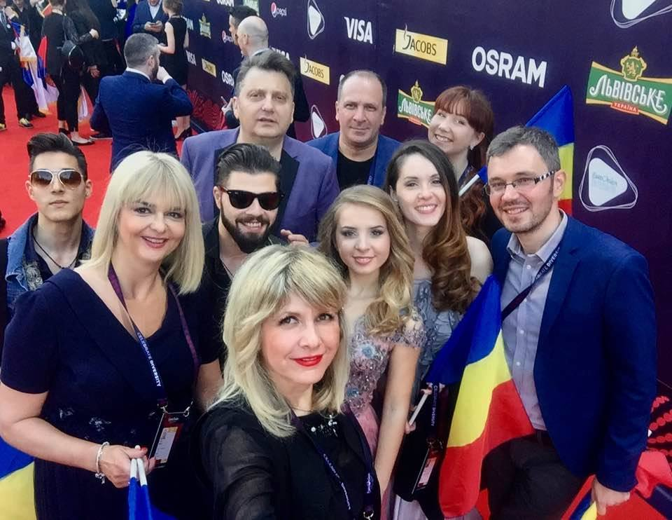 Team Romania on the Red Carpet in Kyiv (PHOTOS)